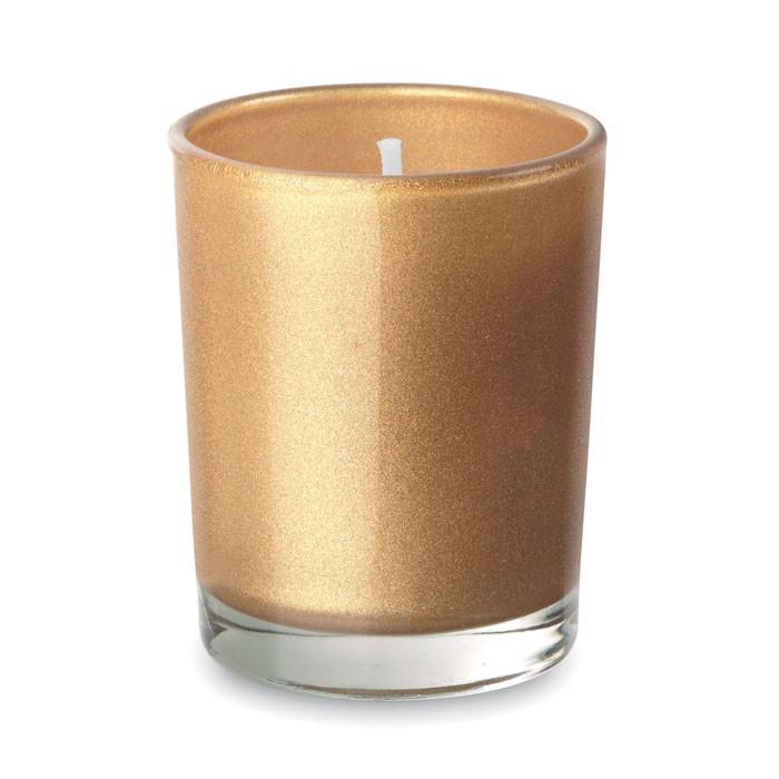 Malá svíčka ve skle Selight - gold