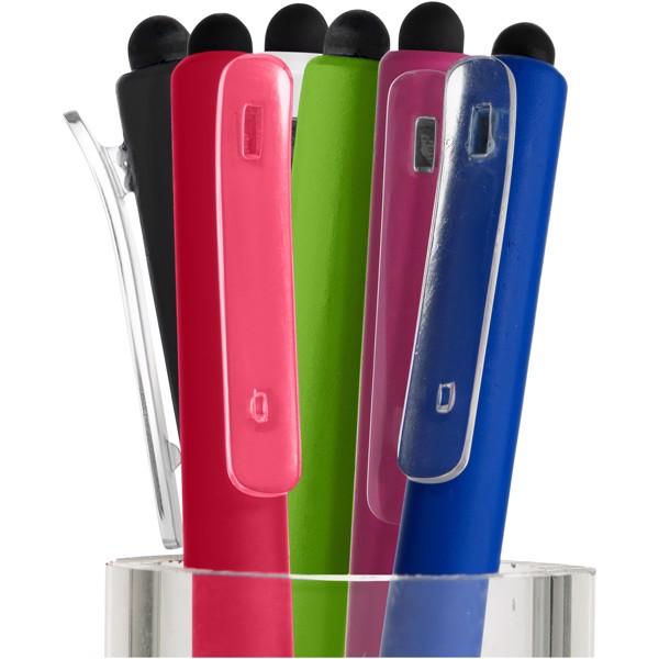 Tris stylus ballpoint pen with clip - White
