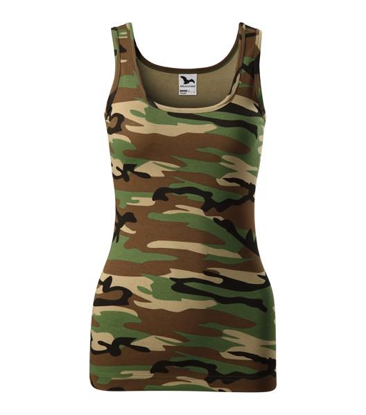 Tílko dámské Malfini Camo Triumph - Camouflage Brown / 2XL
