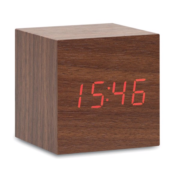 LED clock in MDF Buenos Aires Mini