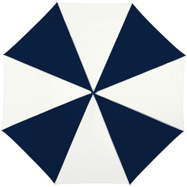 """23"""" deštník Lisa s automatickým otvíráním a dřevěnou rukojetí - Navy / Bílá"""