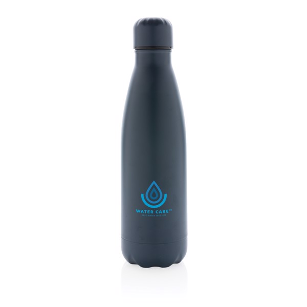 Solid colour vacuum stainless steel bottle - Blue