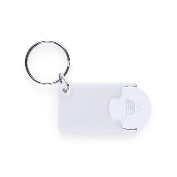 Keyring Coin Zabax - White