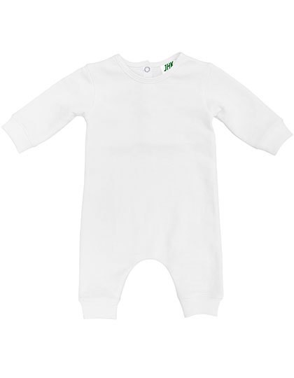 Baby Playsuit Longsleeve - White / 9 months