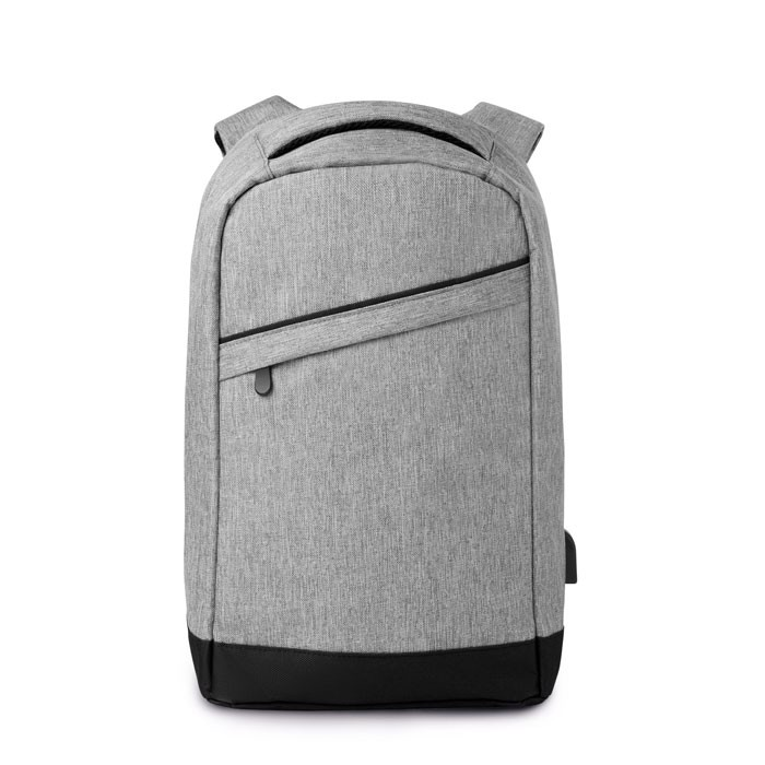 2 tone backpack incl USB plug Berlin - Grey