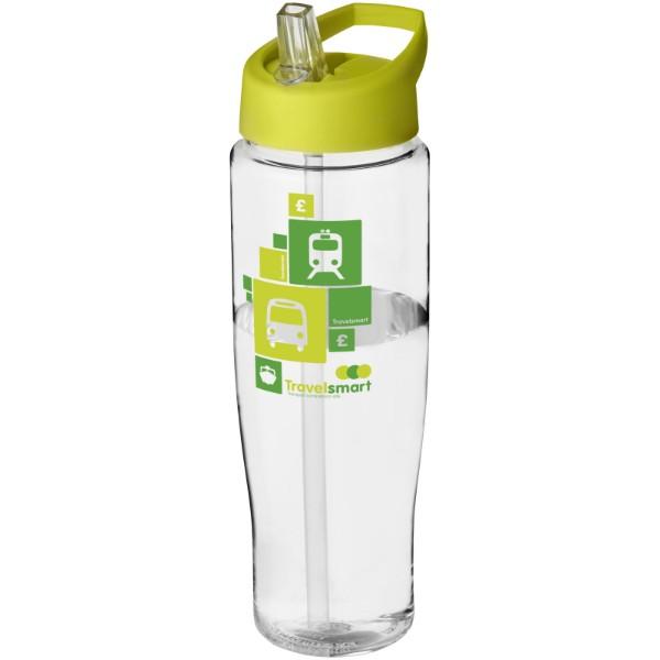 Sportovní láhev s víčkem s hubičkou H2O Tempo® 700 ml - Průhledná / Limetka