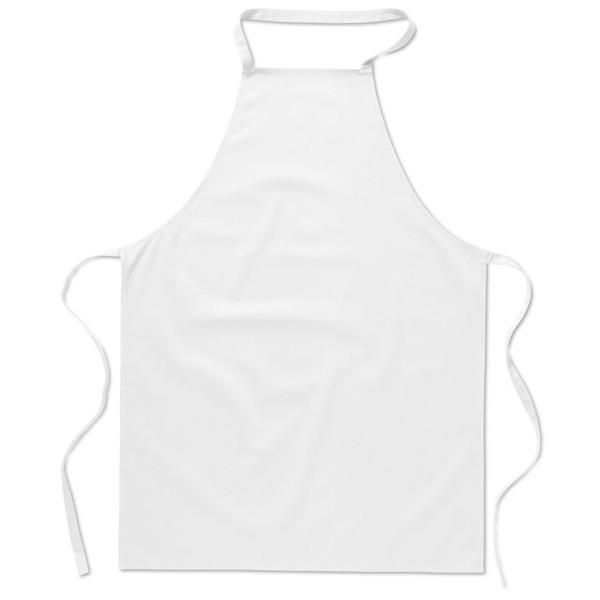 Kuchyňská bavlněná zástěra Kitab - white