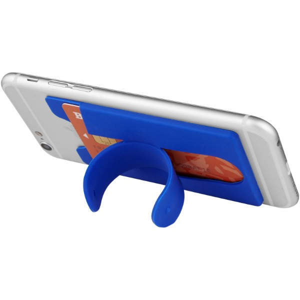 Sluchátka s kabelem a silikonové pouzdro na telefon - Světle modrá