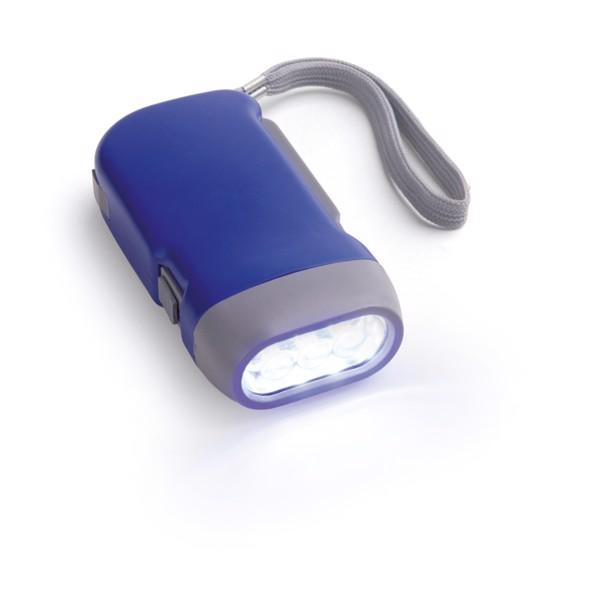 EDDIE. Dynamo flashlight - Blue
