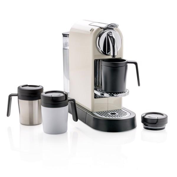 Termohrneček Coffee to go s ouškem - Bílá