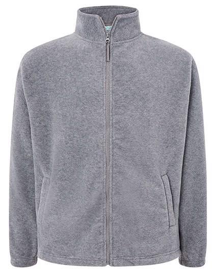 Men Fleece Jacket - Grey Melange / XXL