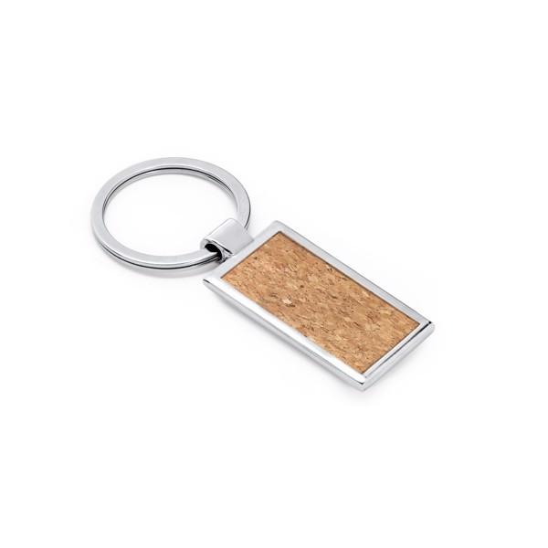 RALDIC. Cork and metal keyring