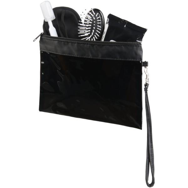 Průhledná cestovní taštička Sid - Transparentní černá