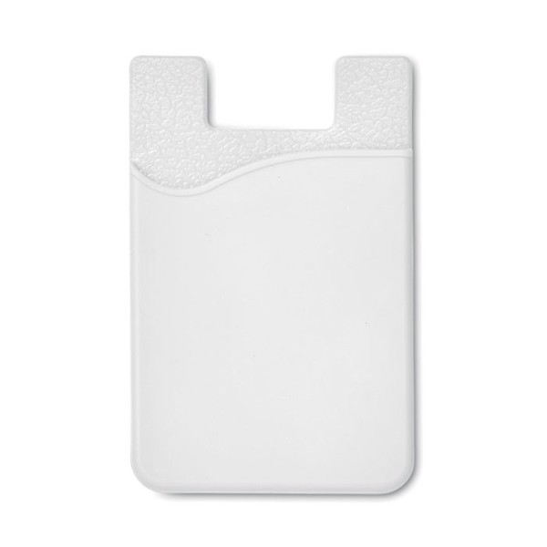 Tarjetero de silicona Silicard - blanco