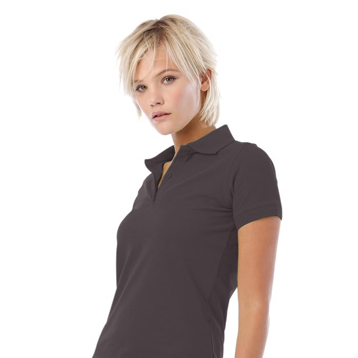 Damen Polo-Shirt 180 g/m2 Safran Pure Women Polo Pw455 - hellgrau / XS