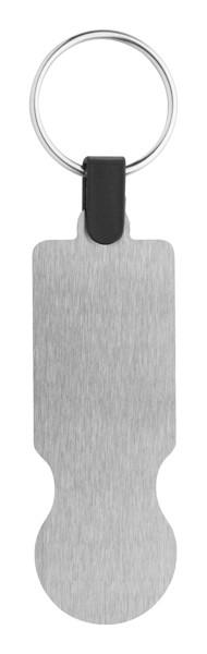 Obesek za ključe z žetonom za nakupovalne vozičke SteelCart - srebrn