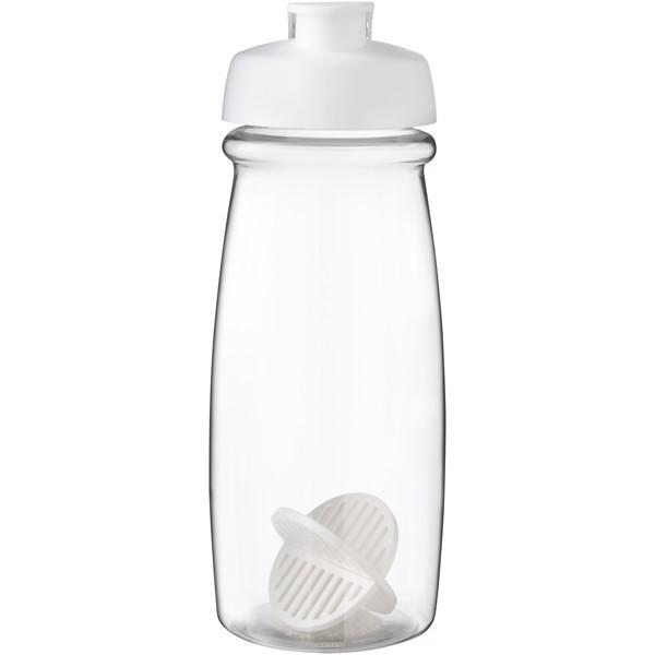 H2O Active Pulse 600 ml shaker bottle - White / Transparent