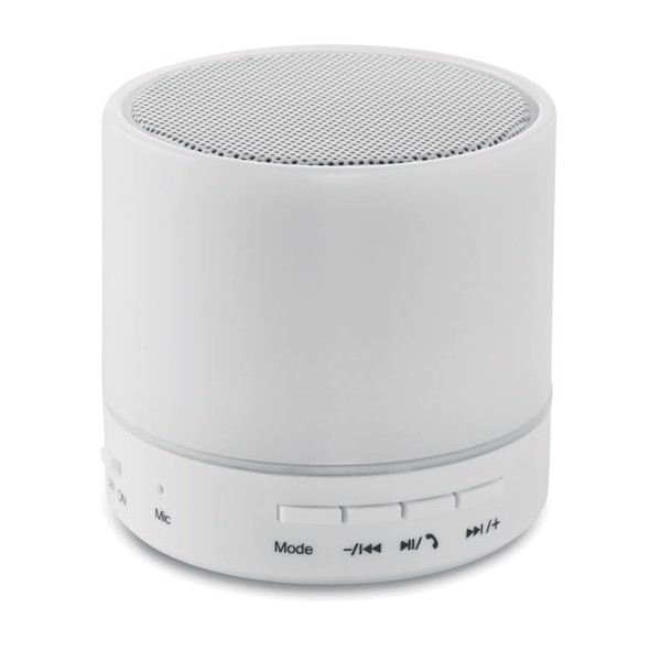 Round Bluetooth speaker LED Round White