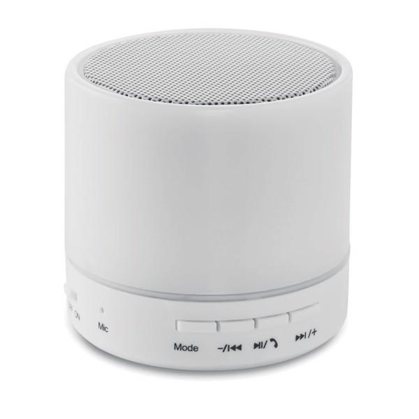 Bluetooth LED reproduktor Round White