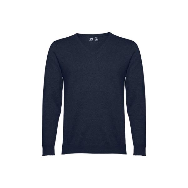 """THC MILAN. Pullover decote em """"V"""" para homem - Azul Marinho / L"""