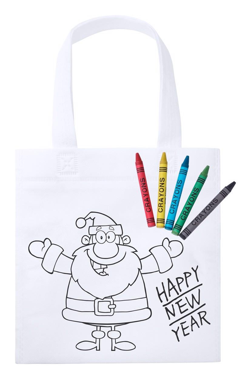 Nakupovalna torba s pobarvanko Wistick - White