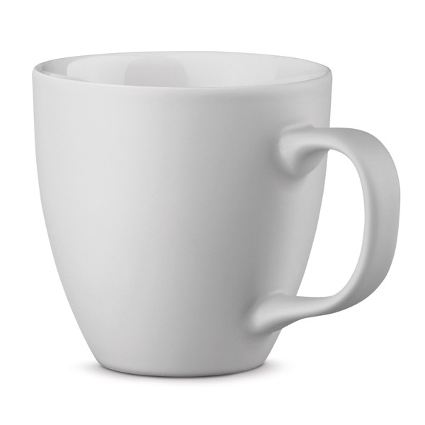 PANTHONY MAT. Porcelain mug 450 ml - White