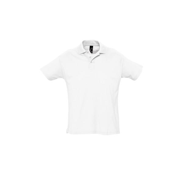 Pique Polo Shirt Summer II - White / L