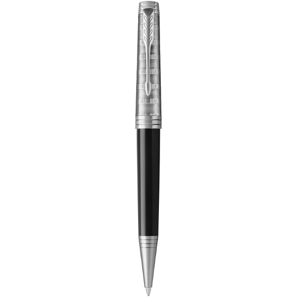 Premier ballpoint pen - Solid black / Silver