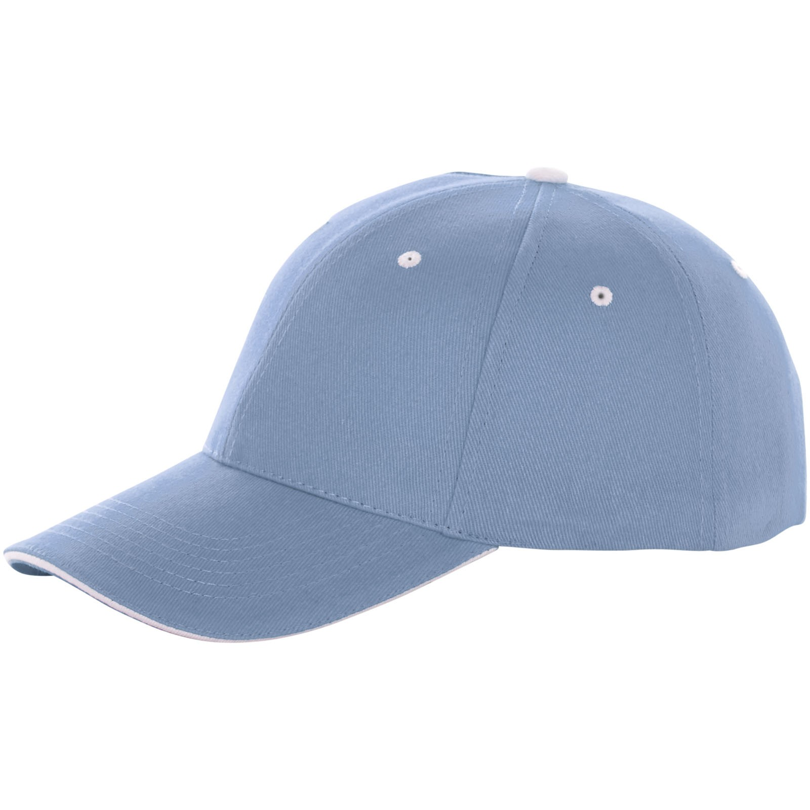Brent 6 panel sandwich cap - Light blue