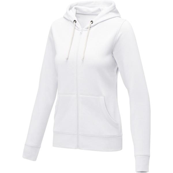 Theron women's full zip hoodie - White / 4XL