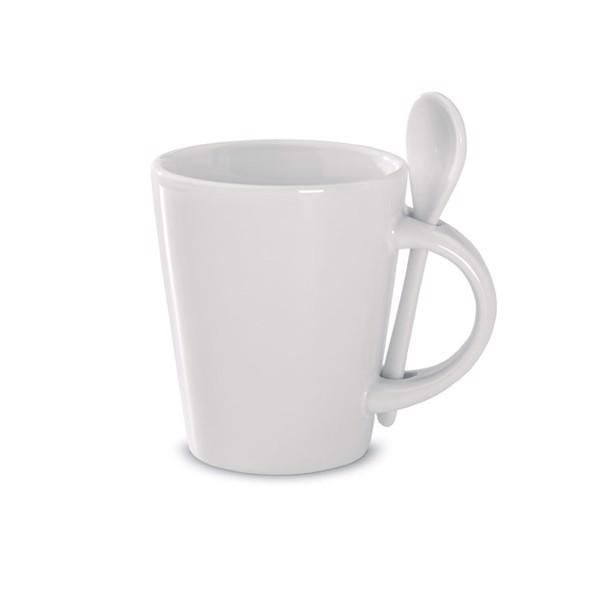 Tasse mit Löffel Sublimation Sublimkonik