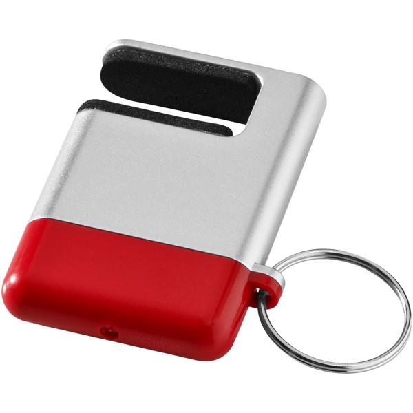 Čistítko displeje a držák telefonu Gogo - Stříbrný / Červená s efektem námrazy