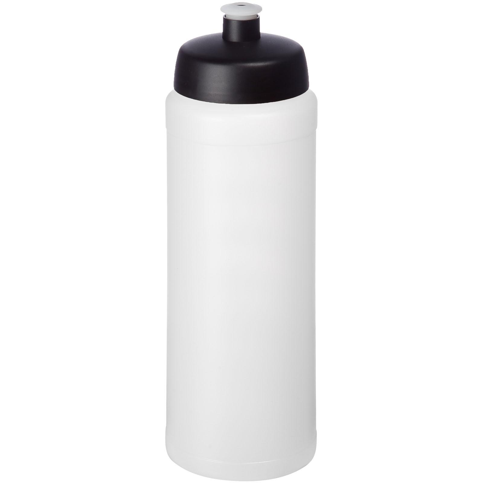 Baseline® Plus grip 750 ml sportovní lahev s víčkem na sport - Průhledná / Černá