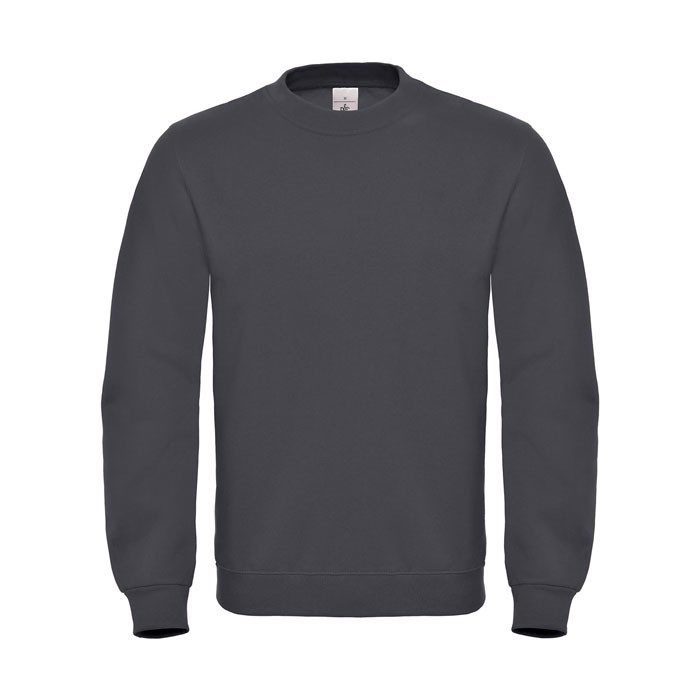 Cotton Rich Sweatshirt Id.002 Cotton Rich Sweatshirt - Anthracite / L