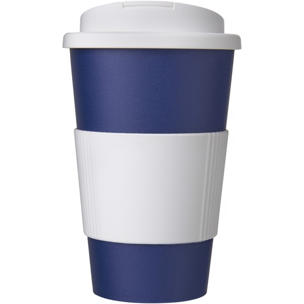 Americano® 350 ml tumbler with grip & spill-proof lid - Blue / White
