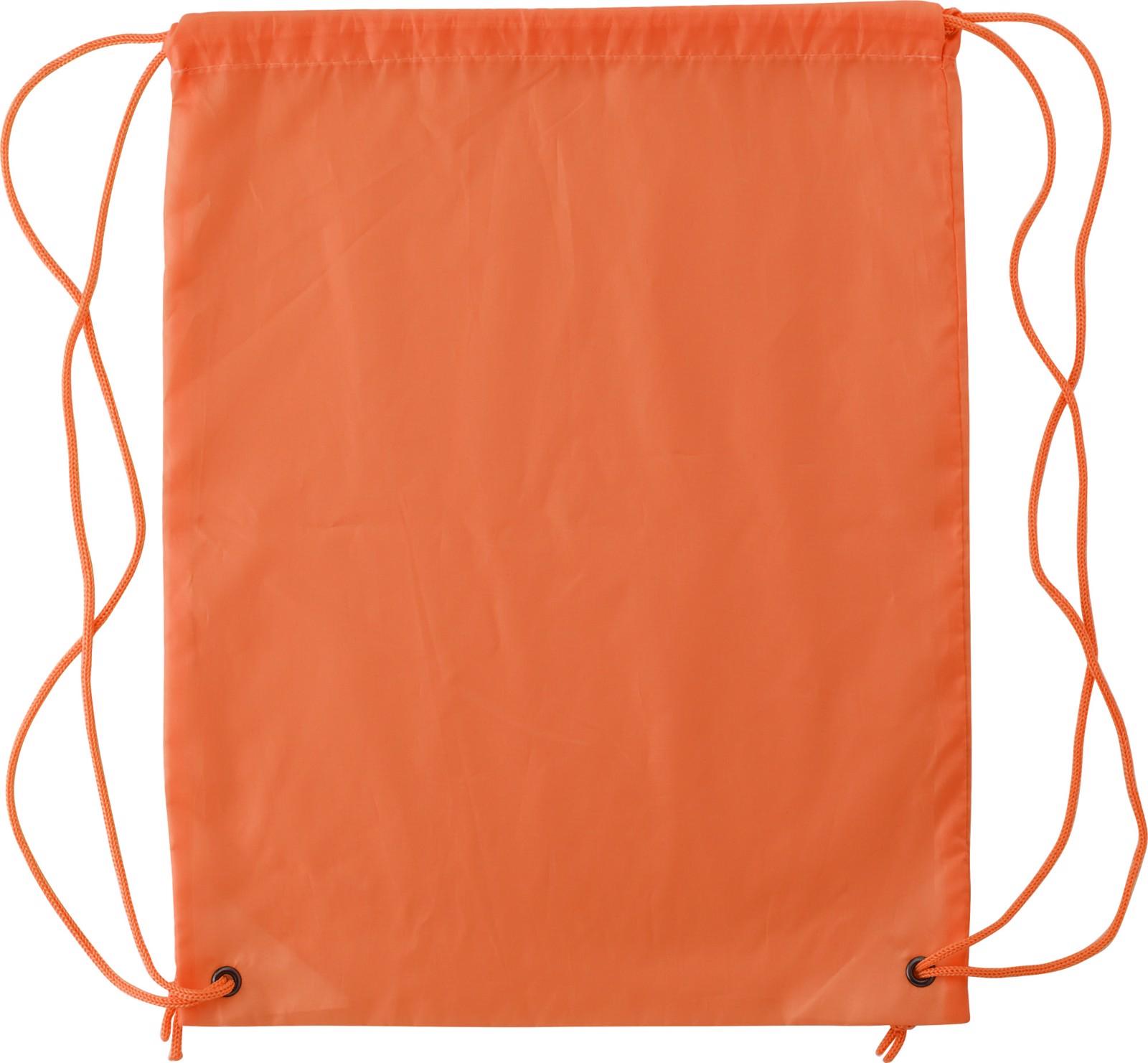 Polyester (190T) drawstring backpack - Orange