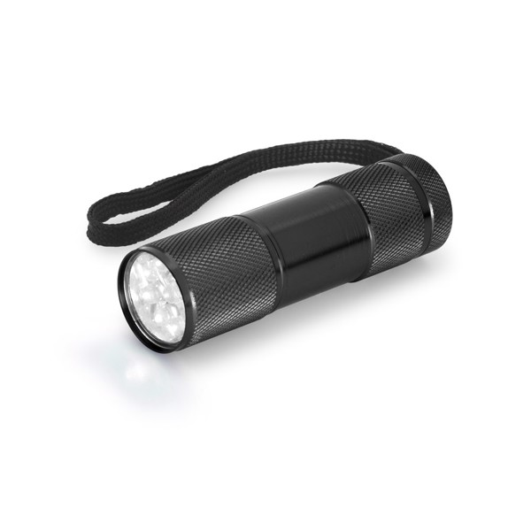 FLASHY. Torch in aluminium - Black