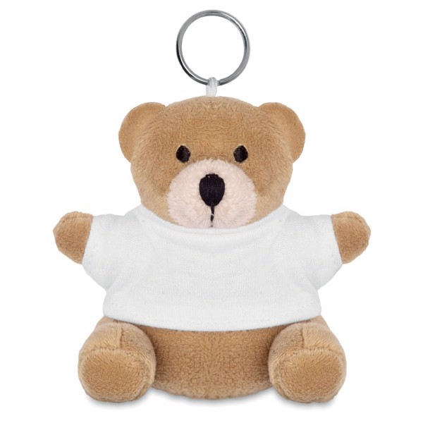 Teddy bear key ring Nil - White