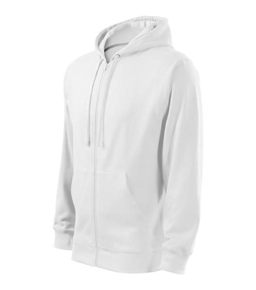 Mikina pánská Malfini Trendy Zipper - Bílá / 2XL