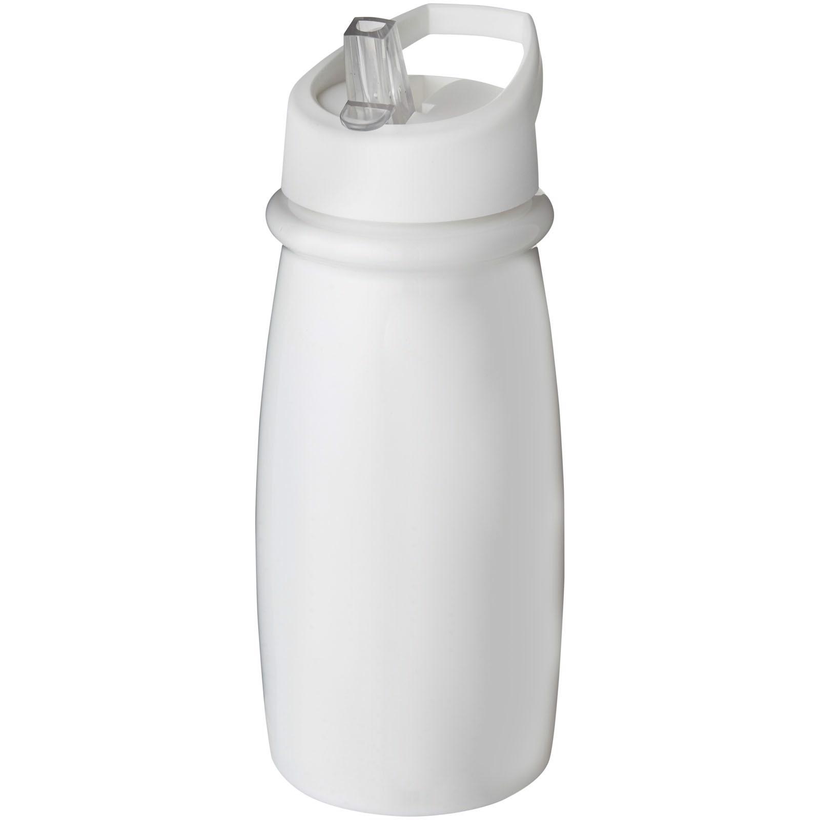 Sportovní láhev svíčkem shubičkou H2O Pulse 600 ml - Bílá