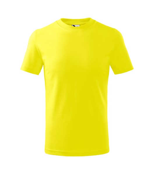 T-shirt Kids Malfini Basic - Lemon / 8 years