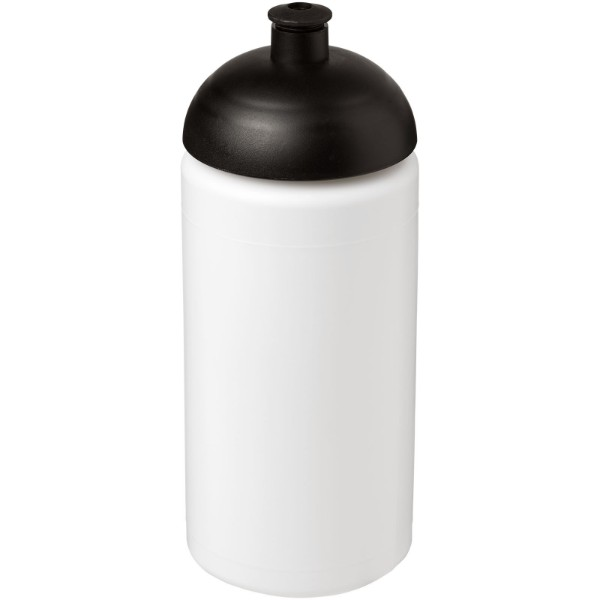 Baseline® Plus grip 500 ml dome lid sport bottle - White / Solid black