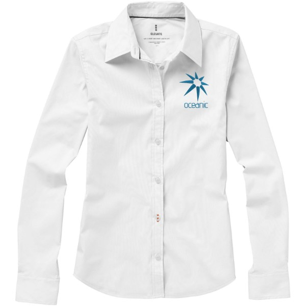 Hamilton long sleeve ladies shirt - White / XS