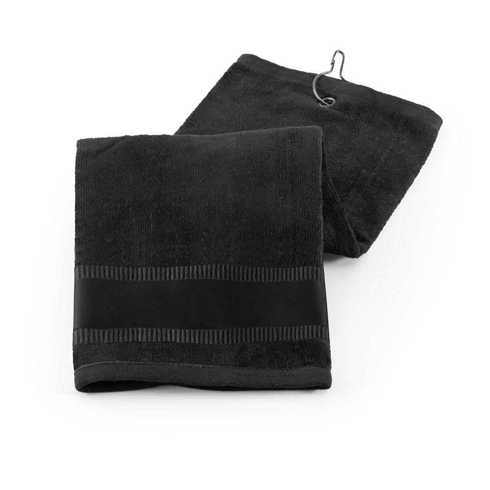 GOLFI. Golf towel in cotton - Black