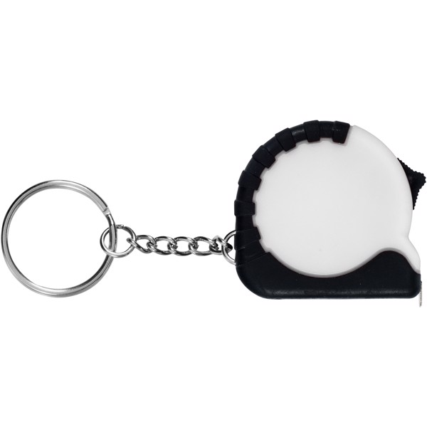 Habana 1 metre measuring tape with keychain - White