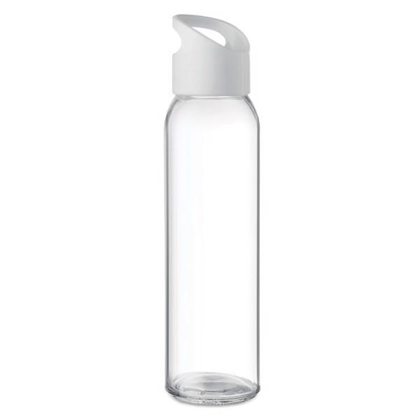 Szklana butelka 500ml Praga - biały