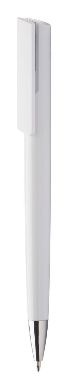 Kuličkové Pero Lelogram - Bílá