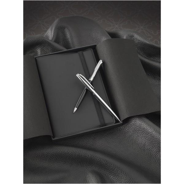 Kuličkové pero Cepheus - Černá / Stříbrný