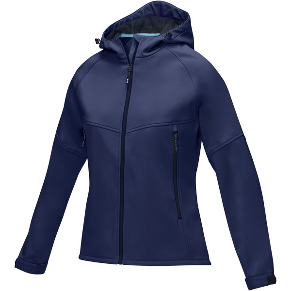 Coltan women's GRS recycled softshell jacket - Navy / XXL