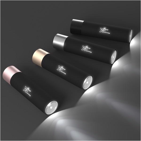 SCX.design F10 2500 mAh light-up flashlight - Silver / White